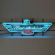 Ford T-bird Neon Sign Thunderbird 40 Wall Lamp Dads Garage 1957 Turquoise 1956