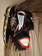 Vintage Danced Ethnographic Yaqui Indian Pascola Dance Mask Sonora Mexico