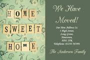 Home Sweet Home New Home Change Of Address Moving House Cards