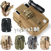 Universal Army Camo Bag For Cell Phone Belt Loop Hook Case Pouch Holster Sleeve