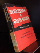 The Old Testament In Modern Research By Herbert F. Hahn - 1966, Bible