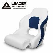 Leader Accessories Two Tone Captainand039s Bucket Seat Boat Seat White/blue