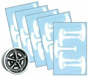 1967-76 Ford Mustang 14 And 15 Magnum 500 Wheel Paint Mask Stencil Kit Set