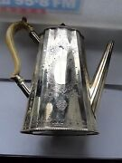 Antique Coffee Pot Sterling Silver Engraved Victorian London 1875