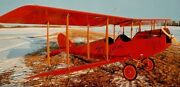 Jenny Early Bird Usa Private Airplane Wood Model Replica Large Free Shipping