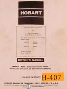 Hobart 100 And 110 Series Cyber Tig Welder Program Electrical And Parts Manual
