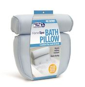 Soft Bath Tub Pillow For Comfort Neck And Back Open Air Fiber Spa Foam Fill New