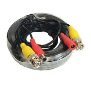 2x 50ft Security Camera Power Cable Cctv Video Extension Wire Bnc Rca Dvr Cord