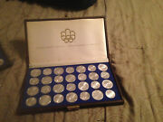 1976 Canada 5 And 10 Olympic Bu Sterling Silver 28 Coin Set Collection