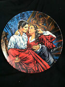Vintage 86and039 Gone With The Wind Scarlett And Rhett Norman Rockwell Collectors Plate