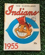 2 1955 Cleveland Indians Sketch Book / Year Book Yearbook