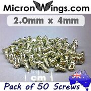 50 X Screws Self Tapping 2.0mm X 4mm Pan Head 304 Stainless Steel