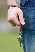 Keychain Real Leather With Selected Engraving Key Case Lanyard Incl. Engraving