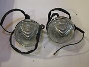 Pair Of Silver Shadow Early Reverse Lamps Complete Lucas Ud14980