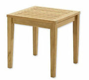 Sack A-grade Teak 21 Square Side End Table Stool Outdoor Patio Furniture Nw