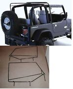 Soft Top Hardware Frame Factory Style Squared Door Frame 88-95 For Jeep Wrangler