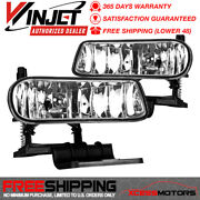 Fits 99-02 Chevy Silverado And 00-06 Suburban Tahoe Front Fog Light Lamps Clear