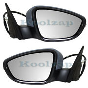 09-12 Passat Cc Mirror Power Heated W/ Signal And Puddle Lamp Left Right Set Pair