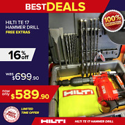 Hilti Te 17, Preowned, Heavy Duty Case, 2 Sets Of Free Bits, Fast Ship