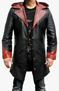 Devil May Cry Dmc 5 Dante Menand039s Leather Jacket / Trench Costume Coat - Bnwt