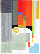 Seong Moy Andndash Abstract Serigraph By Chinese American Artist S/n -cape Cod Interior
