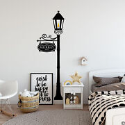Custom Street Sign On A Gas Lamp Post Vinyl Wall Decal Pick Your Sign Name K584
