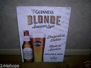 Guinness Blonde - American Lager - Tin Sign - New - 23 X 17
