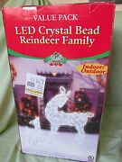 Led Crystal Bead Reindeer Family Christmas Lighted Indoor/outdoor/yard/lawn