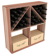 Wooden Solid Case/bottle Bin Wine Rack Kit In Redwood. Hand Crafted In The Usa.