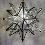 Moravian Star Pendant Light 19 15 Or 10 Choose Your Glass And Trim Options