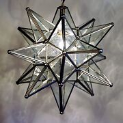 Moravian Star Pendant Light, 19, 15 Or 10, Choose Your Glass And Trim Options