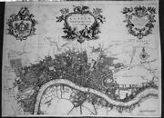 Antique Map A New Plan Of The City Of London Westminster And Southwark