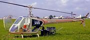 Sh-4 Silvercraft Italy Light Helicopter Wood Model Replica Large Free Shipping