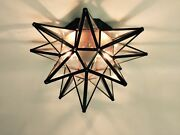 Moravian Star Ceiling Light/wall Sconce 15 Glass Hand Crafted