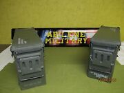 2 Each Military Surplus 40mm Pa-120 Large Ammo Can Box 100 Steel Excellent
