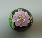 Orient And Flume Limited Edition 6/250 Art Glass Paperweight , Large Pink Orchid