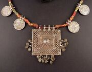 Rajasthan Old Silverrupees Coins And Hindu Amuletnecklace, Indian Jewellery