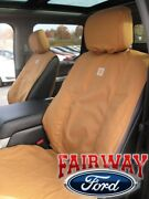 15 Thru 20 F-150 Oem Genuine Ford Front Captain Chair Seat Covers Brown