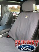 15 Thru 20 F-150 Genuine Ford Front Captain Chair Seat Covers Gravel