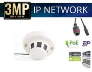 Home Security Support Poe Hd 1080p Smoke Detector Ip Network Camera W/2.8mm Lens