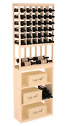 Wooden Side Display Combo Wine Cellar Rack Kit In Pine. Hand Crafted In The Usa.