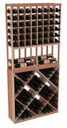 Wooden Side Display Diamond Cube Combo Wine Cellar Rack Kit In Redwood. Usa Made