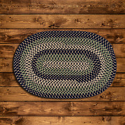 Brook Farm Blue Stone Braided Area Rug And Runner By Colonial Mills. Many Sizes