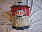 Vintage Esso 5 Gallon Can With Handle Oil Grease .. Some Rust See Pictures