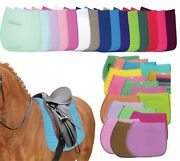Colorful English Saddle Pads In 3 Sizes Dressage   All-purpose   Pony - Pri