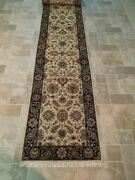 2and039 6and039and039 X 22and039 Soft Wool Agra Runner Antique Design Handmade Rug From India