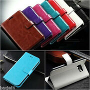 Luxury Leather Card Wallet Flip Case Cover Apple Iphone 4 5 6 S 7 8 Plus X / Xs