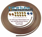 Copper Nickel Brake Line Tubing Kit 1/4 Od 25 Foot Coil Roll And All Size Fittings