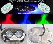 2pc 120w Marine Boat Rgb Multicolor Led Underwater Surface Transom Mount Lights