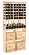 Wooden High Reveal Solid Case Bin Combo Wine Cellar Rack Kit In Pine. Usa Made.